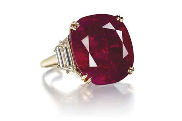 The Hope Ruby - Burmese Ruby and Diamond Ring