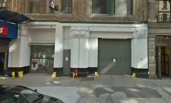 The garage at 66 East 11th Street in New York City