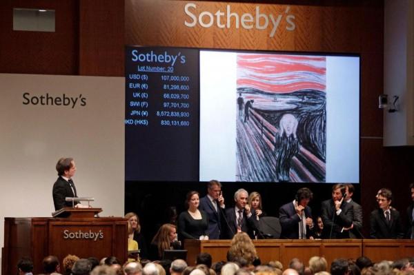 Edvard Munch's The Scream Artwork Sells for Record $119.9 million