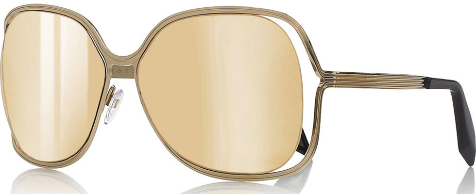 Victoria Beckham&#8217;s Butterfly Square-frame Sunglasses with Midas Touch