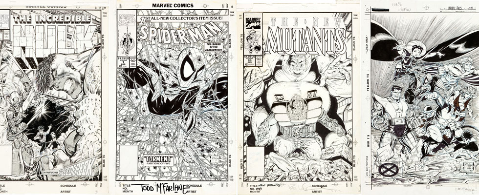 Todd McFarlane Spider-Man #1 Cover Art and other Modern Masterworks in July