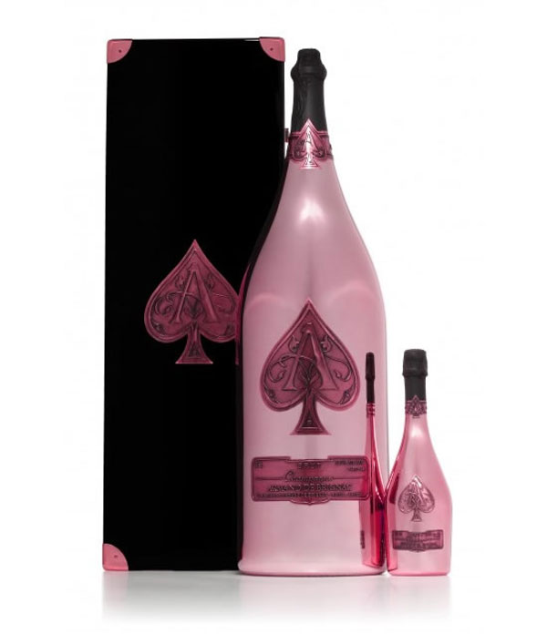 Worlds Largest Ros Champagne Bottle by Armand de Brignac