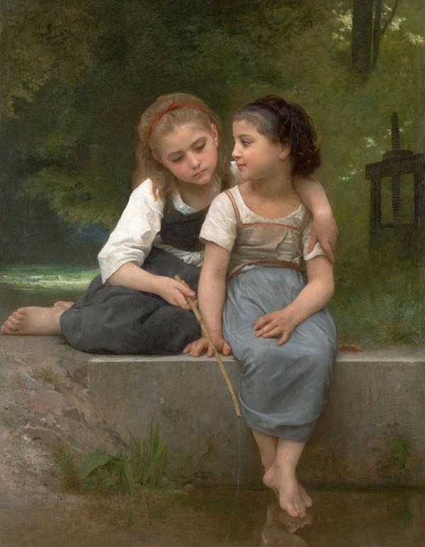 William Adolphe Bouguereau - Fishing For Frogs