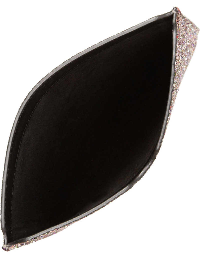 Tyler Glitter-finished Leather iPad Sleeve by Jimmy Choo ...
