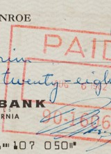 Marilyn Monroe's Last Check to be  Offered at Auction