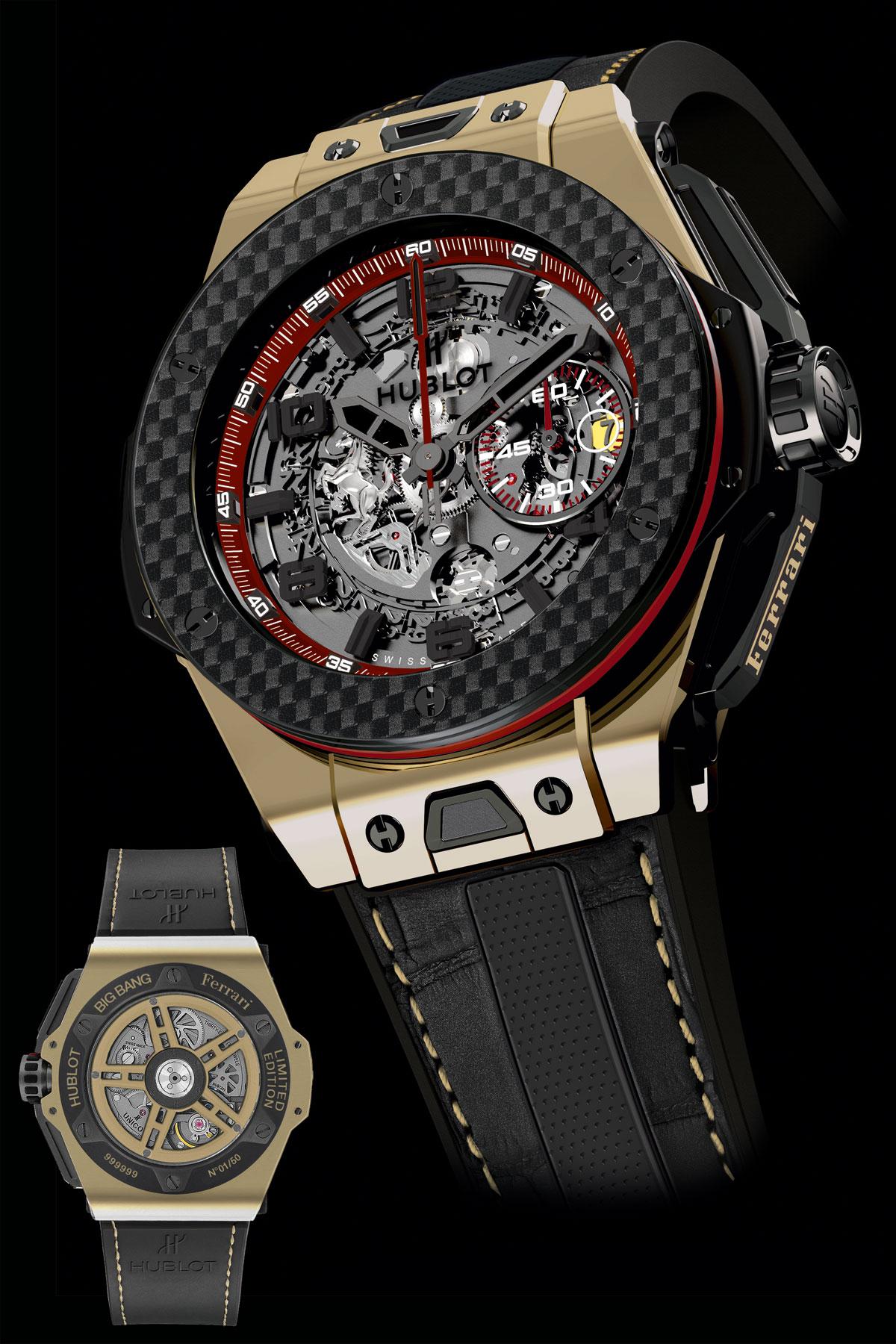 hublot presents exclusive big bang ferrari watch 18k magic. Black Bedroom Furniture Sets. Home Design Ideas