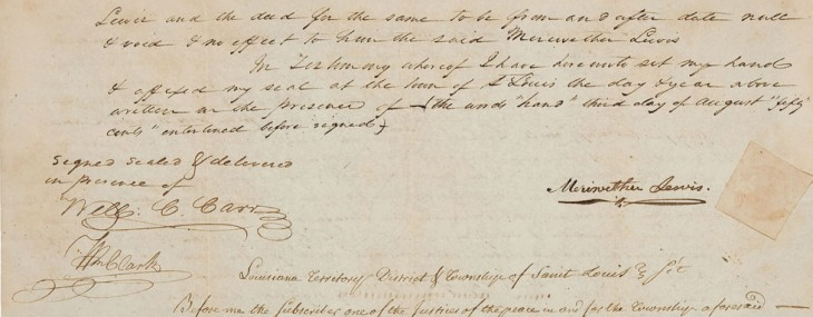Document Signed by Legendary Explorers Meriwether Lewis and William Clark