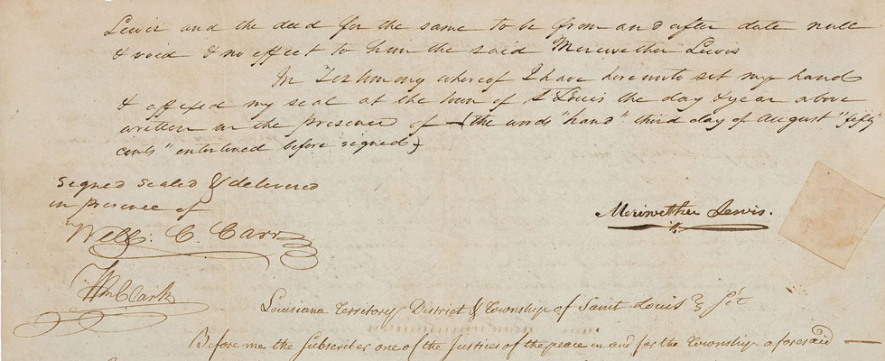 Only Known Document Signed byLegendary Explorers Lewis and Clark in Private Hands May Fetch $100,000