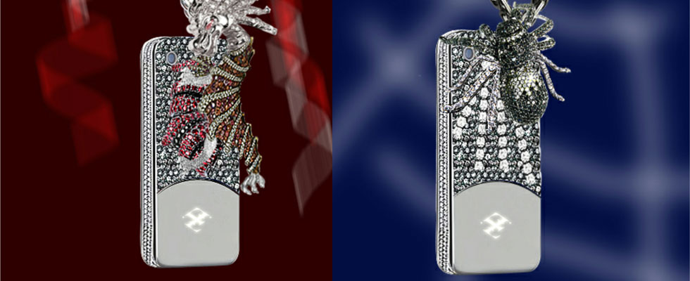 Is Your Cell Phone Impressive Enough &#8211; $880,000 Dragon and Spider Phone Case