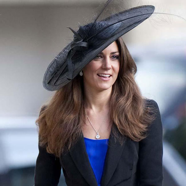 Duchess Catherine, wearing the hat up for auction