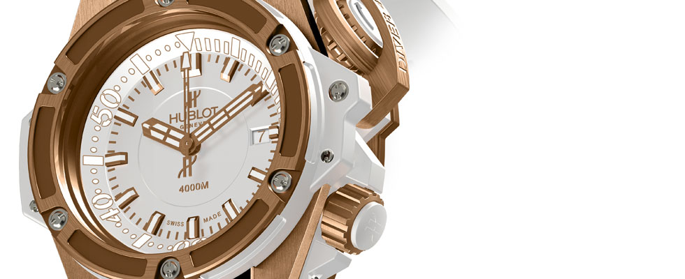 Hublot Oceanographic 4000 King Gold White