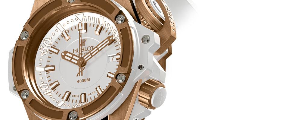 Hublot Oceanographic 4000 King Gold White