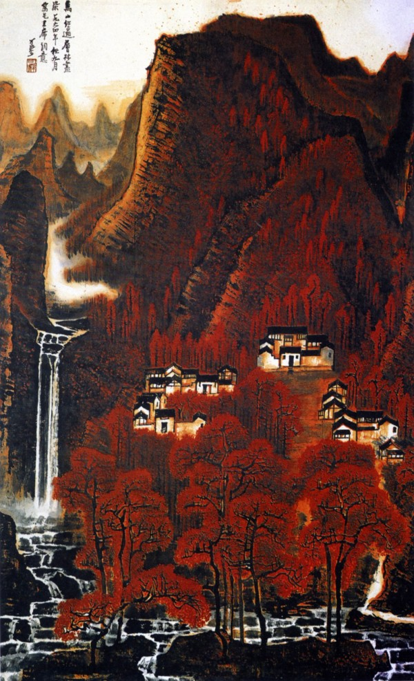 Li Keran's Landscape in Red