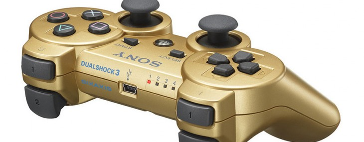 Sony Limited Edition Metallic Gold Dualshock 3 Controller for Summer Olympics