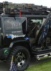2003 Custom H2 Hummer Black Knight