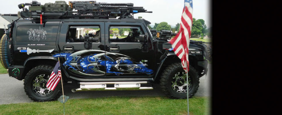 Fully-Armed Black Knight Hummer H2 on Sale for $55,000
