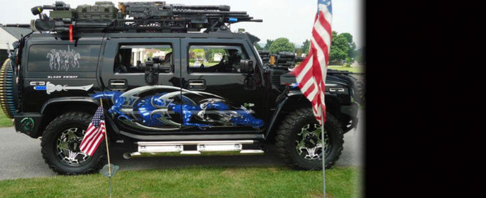2003 Custom H2 Hummer Black Knight