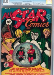 All Star Comics #8 (DC, 1942) CGC VF 8.0