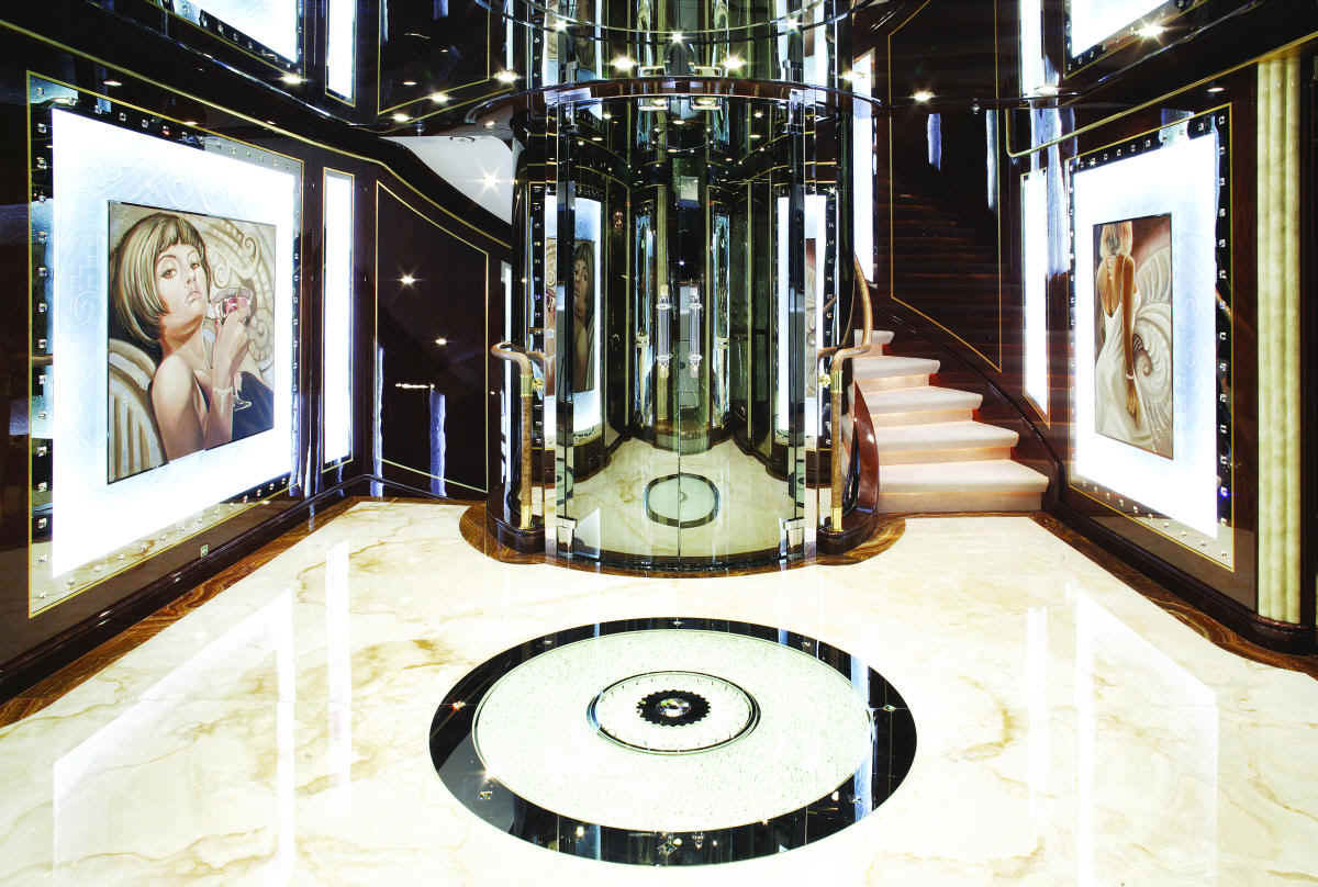 Diamonds Are Forever Luxury Bond Themed Charter Yacht