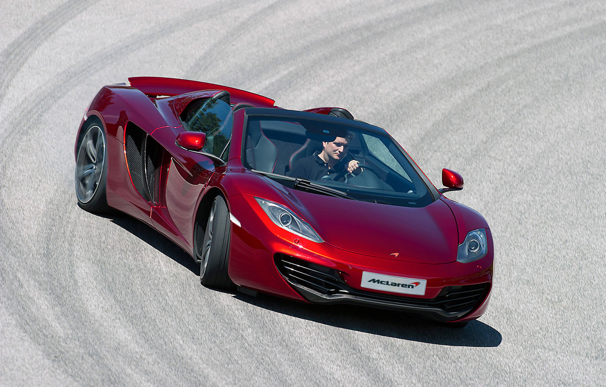 mclaren mp4 12c spider joins to their luxury fleet extravaganzi. Black Bedroom Furniture Sets. Home Design Ideas