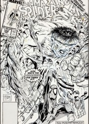 Todd McFarlane The Amazing Spider-Man #328 Cover Original Art