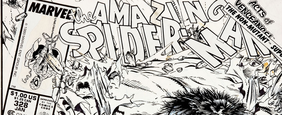 Todd McFarlane's original art for The Amazing Spider-Man #328