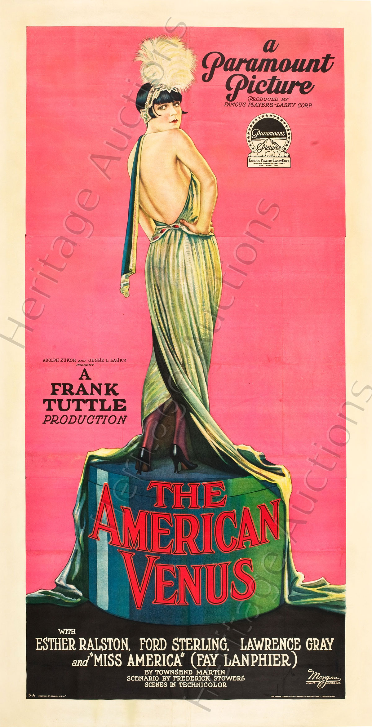 1926 Three Sheet Poster for The American Venus Leads $1.45 Million Movie Posters Auction
