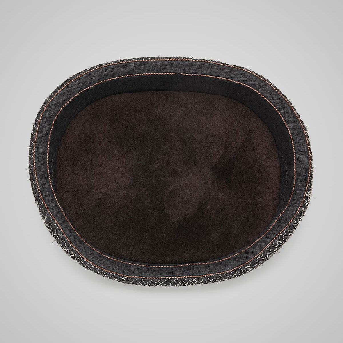Bottega Veneta Nero Intrecciato Linen Dog Bed