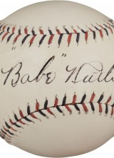 High Grade Early Ruth Signed Baseball to Appear in October Auction