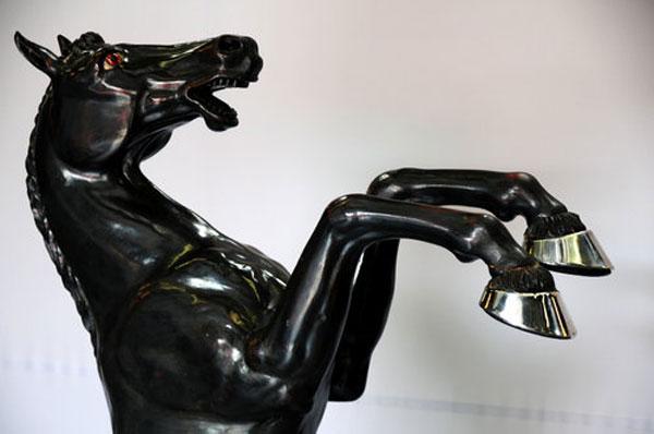 Enzo Ferrari's Prancing Horse engrave