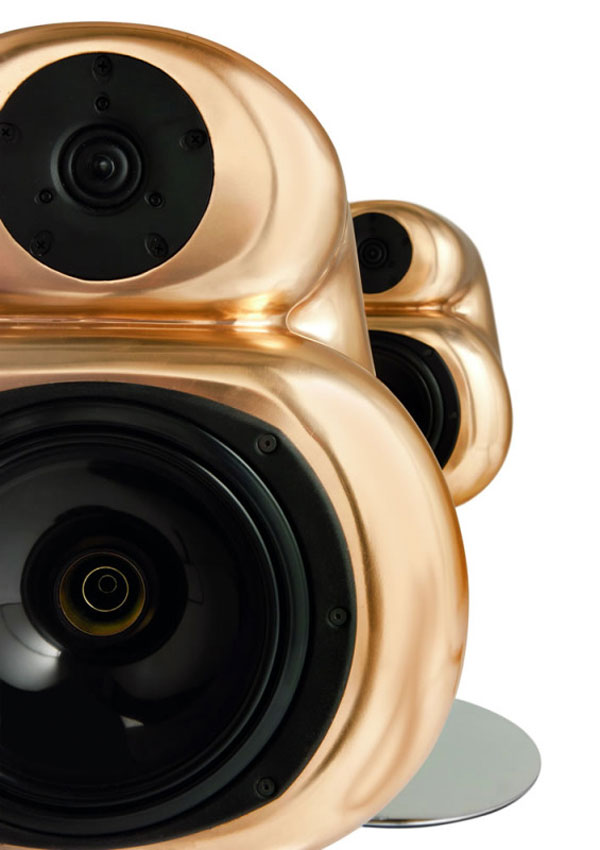 D&W Aural Pleasure Speakers Cast in Gold