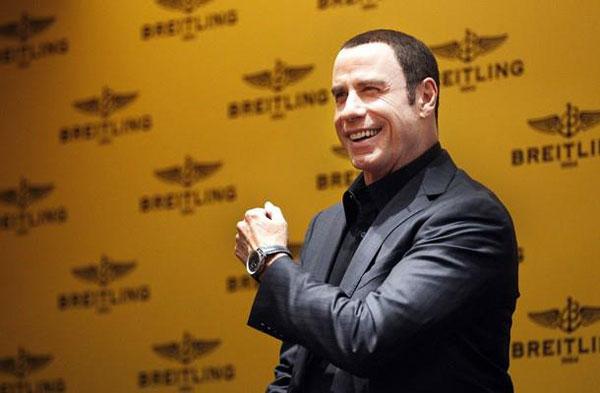 John travolta in singapure to unveil breitling navitimer blue sky 60th anniversary of navitimer for John travolta breitling