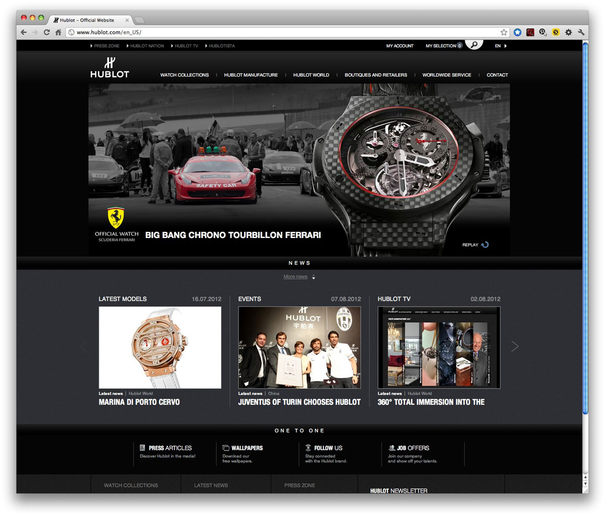 New Hublot Website Unveiled