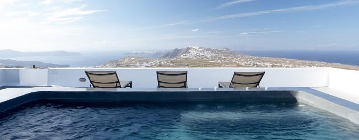 Villa Fabrica, Santorini, Greece – Simplicity of Luxury with Magnificent Views of the Aegean Sea