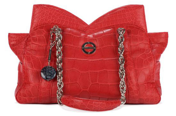 $31,980 Mona – an Alligator Skin Handbag by Farbod Barsum