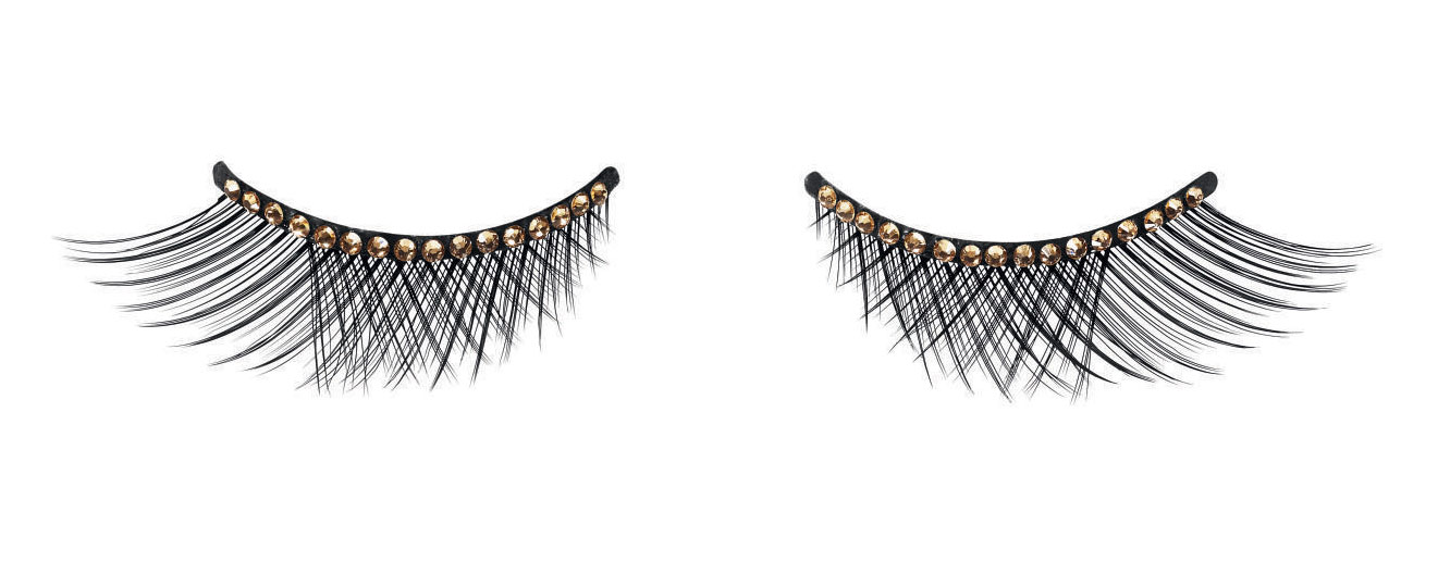 Limited Edition Dior Grand Bal False Lashes in Gold Crystals Debuted at Fashion's Night Out NYC 2012