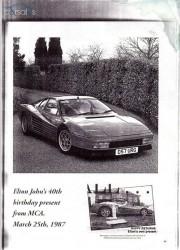 Elton John's 1987 Ferrari Testarossa
