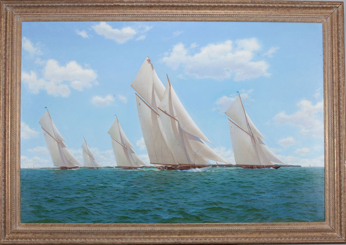 Stephen J. Renard West Wind, Britannia, White Heather, Shamrock and Lulworth in the Solent
