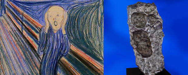 Meteorite Evoking Edvard Munch's Screan at Auction