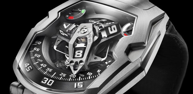 World&#8217;s First Winding Efficiency Indicator on the Urwerk UR-210 Maltese Falcon Wristwatch