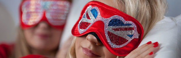 Virgin Atlantic Swarovski Crystal Eyeshades