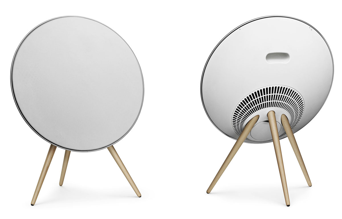 bang olufsen beoplay a9 satellite dish speakers. Black Bedroom Furniture Sets. Home Design Ideas