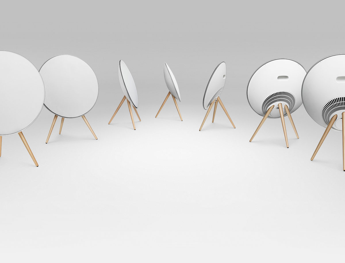 bang olufsen beoplay a9 satellite dish speakers extravaganzi. Black Bedroom Furniture Sets. Home Design Ideas