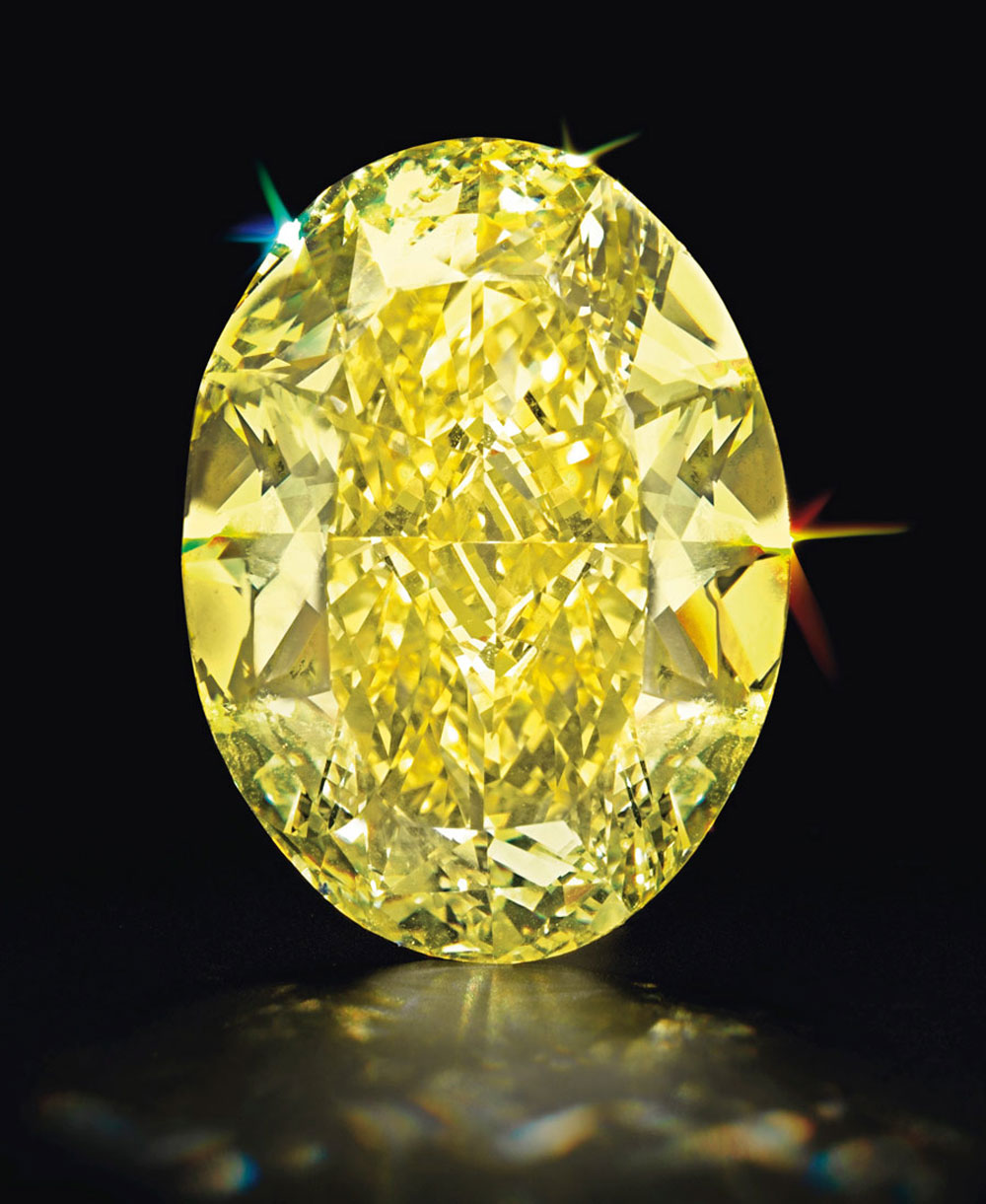 Oval-Cut Fancy Intense Yellow Internally Flawless Diamond
