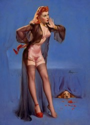 Doggone!, Brown & Bigelow calendar illustration by GIL ELVGREN