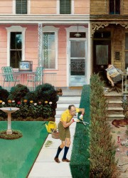 Sunday Gardening, The Saturday Evening Post cover by JOHN PHILIP FALTER