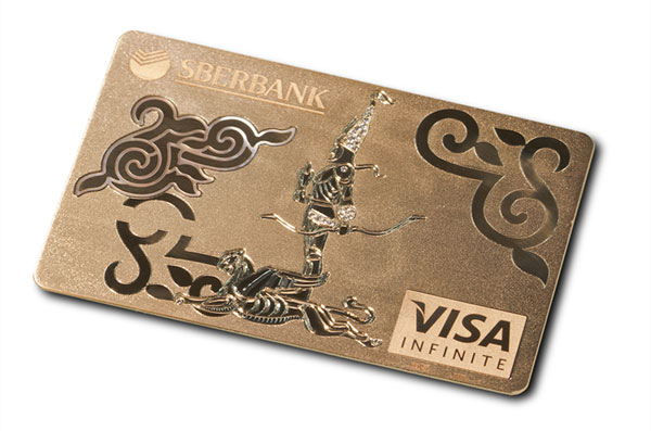 Jewel-encrusted Solid Gold Visa Infinite Card