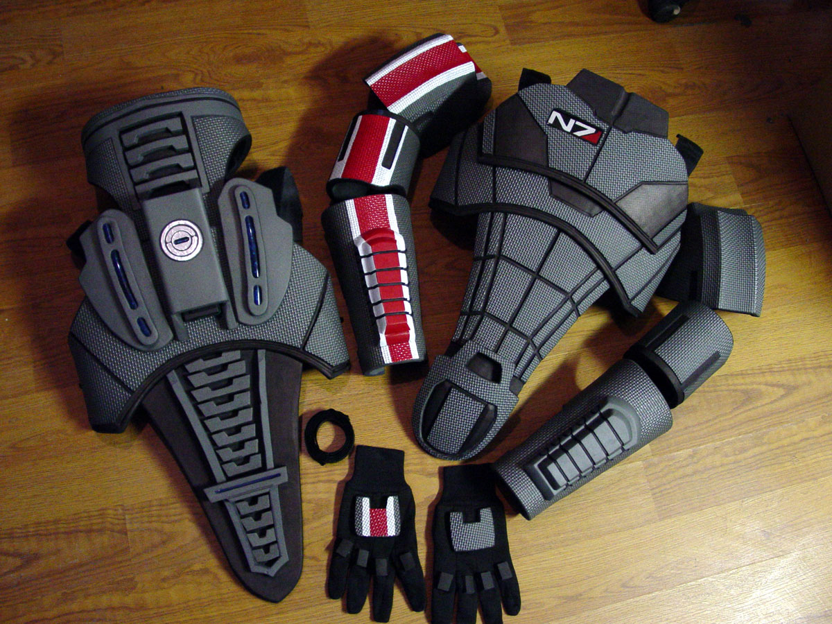 Chest armor foam templates cool templates for Mass effect 3 n7 armor template