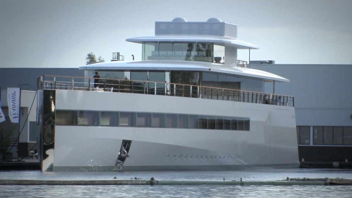 Steve Jobs&#8217; Venus Superyacht Unveiled in Netherlands