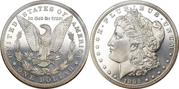 1895 $1 PR66 Cameo PCGS